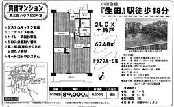 東三田ハウス[502号室]の間取り