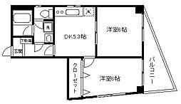 マニチオール山田[402号室]の間取り