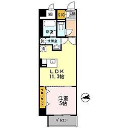 Osaka Metro堺筋線 扇町駅 徒歩5分の賃貸マンション 2階1LDKの間取り