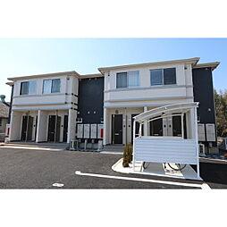茨城県つくば市上ノ室の賃貸アパートの外観