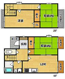 [タウンハウス] 兵庫県神戸市北区藤原台中町2丁目 の賃貸【/】の間取り