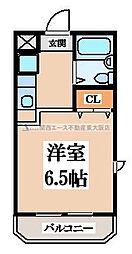 メゾンF&E[1階]の間取り