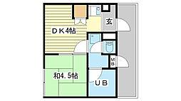 リーダーマンション[401号室]の間取り