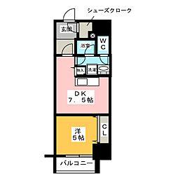 さくらHills ARAKO[5階]の間取り