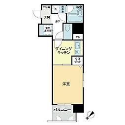 トーカンマンション長田町[8階]の間取り