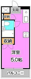 東京都練馬区南田中2丁目の賃貸アパートの間取り