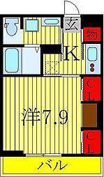 リブリ・豊四季セブン[1階]の間取り