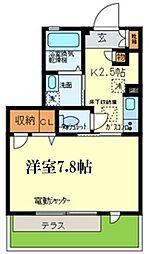 JR東海道・山陽本線 甲南山手駅 徒歩8分の賃貸アパート 1階1Kの間取り