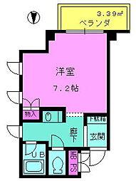 京阪本線 守口市駅 徒歩7分の賃貸マンション 6階1Kの間取り