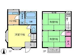 [テラスハウス] 千葉県市川市大洲2丁目 の賃貸【/】の間取り