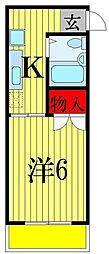 千葉県船橋市前原西3丁目の賃貸マンションの間取り