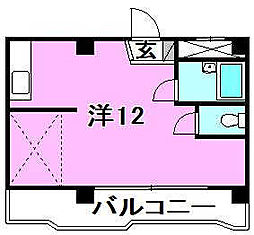 キジヤ千舟ビル[603 号室号室]の間取り
