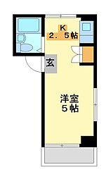 神奈川県川崎市高津区溝口5丁目の賃貸マンションの間取り