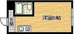 Osaka Metro谷町線 野江内代駅 徒歩11分の賃貸マンション 4階ワンルームの間取り