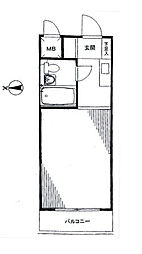 エクセレント蒲田[4階]の間取り