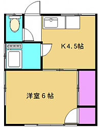 埼玉県川越市大字的場の賃貸アパートの間取り