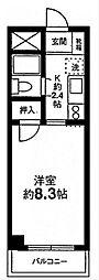 ファミーユ第2前川ビル[2階]の間取り