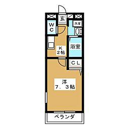 第2近藤ハイツ[4階]の間取り