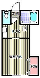 MMハウス[102号室]の間取り