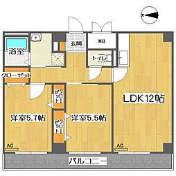 ドミール坂本[2階]の間取り
