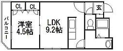 北海道札幌市白石区南郷通10丁目北の賃貸マンションの間取り