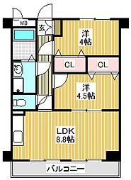 愛知県名古屋市中川区花池町3の賃貸マンションの間取り
