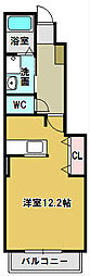 サン フィット2[1階]の間取り