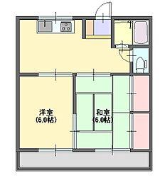 栃木県宇都宮市中久保2丁目の賃貸アパートの間取り