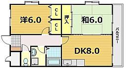 サンモール松本[5階]の間取り