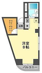 東京都江戸川区上一色2丁目の賃貸マンションの間取り