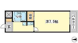 兵庫県姫路市北平野4丁目の賃貸アパートの間取り