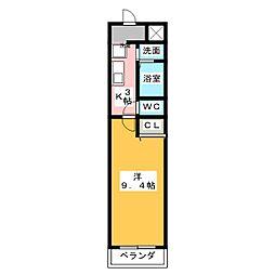 タウンコート春日井[6階]の間取り