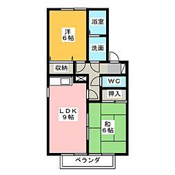 セジュール貫井[1階]の間取り