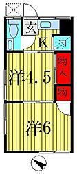 第二中島荘[2階]の間取り