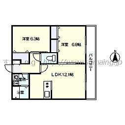 レジデンス早稲田 306[306号室]の間取り