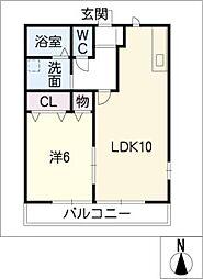 武路ハイツ[1階]の間取り