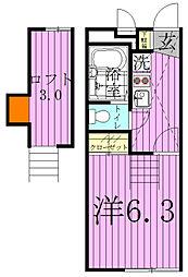 フェリオ柏[1階]の間取り