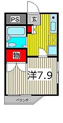 ひまわり館[206号室]の間取り
