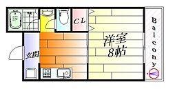 大阪府吹田市千里丘下の賃貸マンションの間取り