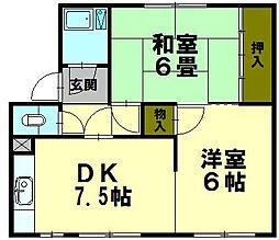 白菊マンション[3階]の間取り