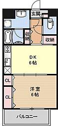 コンフォールドミールK[401号室号室]の間取り
