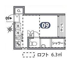 東京メトロ丸ノ内線 後楽園駅 徒歩9分の賃貸アパート 1階ワンルームの間取り