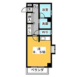 FELIZ GATO[6階]の間取り