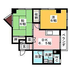 松栄レックスマンション 505[5階]の間取り