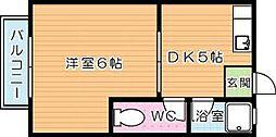 メイゾンサトーA棟[1階]の間取り