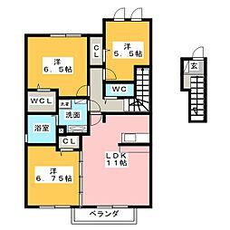 ソレイユ[2階]の間取り