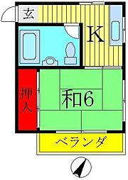 ハイツサンヨー[4階]の間取り