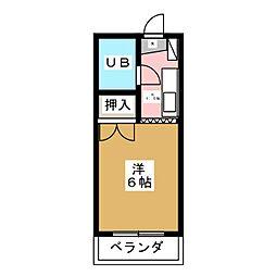 キャッスルU[3階]の間取り
