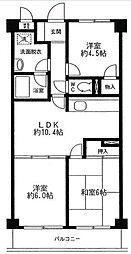 リーフレットパークK.A[4階]の間取り