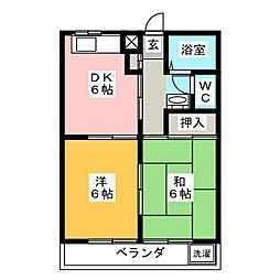 栄サンハイツ[1階]の間取り